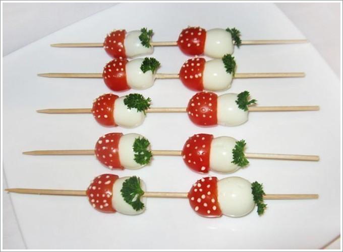 Красивые закуски на шпажках рецепты с фото