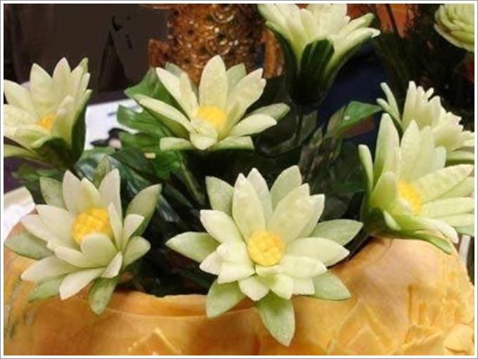 Цветок из огурца: фото 3969044