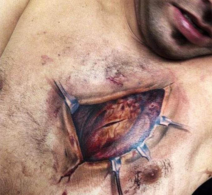 тату на грудной клетке эскизы