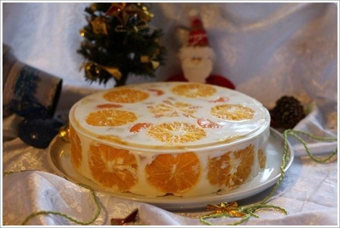 Желейный цитрусовый торт: фото 4184060