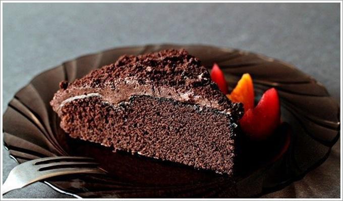 Шоколадный торт с глазурью: фото 4252031