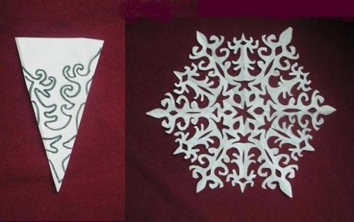 снежинки из бумаги (схемы)