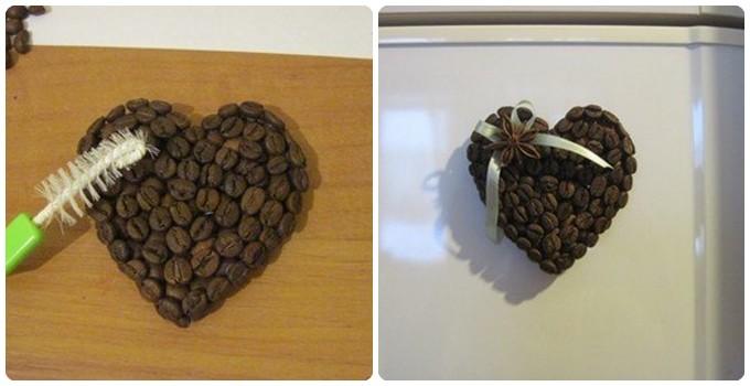 Магнитики из кофейных зерен