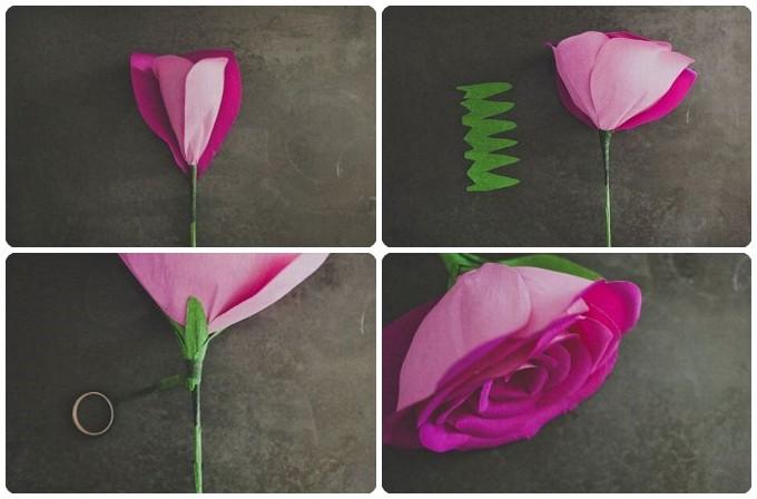 Роза на день валентина своими руками
