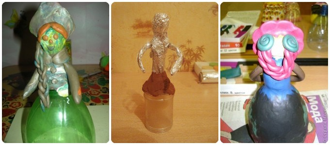 Кукла из бутылки стеклянной