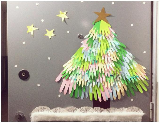 Объемная елка из бумаги своими руками на стену