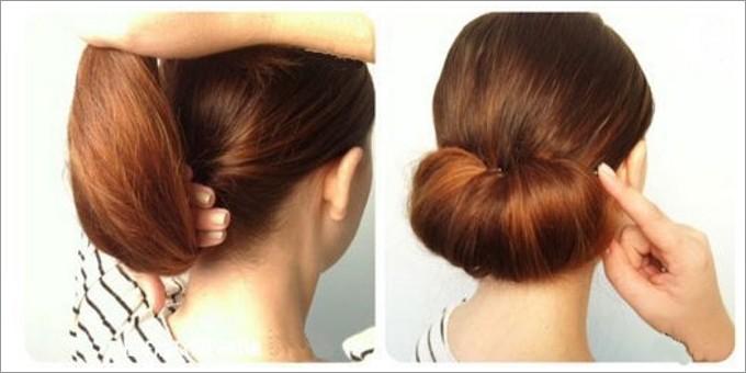 Прическа со шпильками на средние волосы своими руками