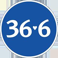 36,6, логотип