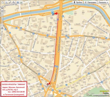 Схема проезда к ЛИМАЖ