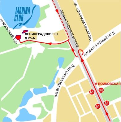 Схема проезда к ДАЙВИНГ СК
