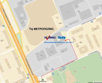 Схема проезда к THRIFTY RUSSIA