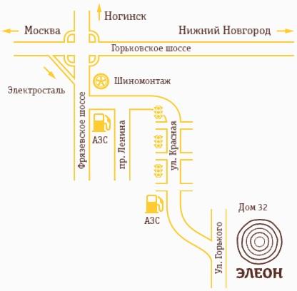 Схема проезда к ЭЛЕОН