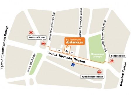 Схема проезда к DOSTAVKA.RU