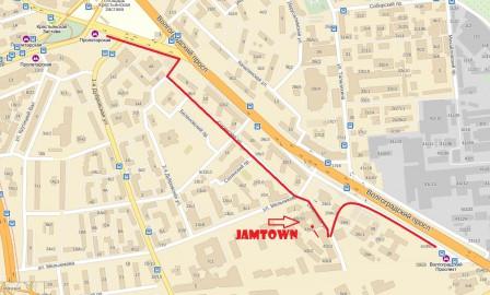 Схема проезда к JAMTOWN