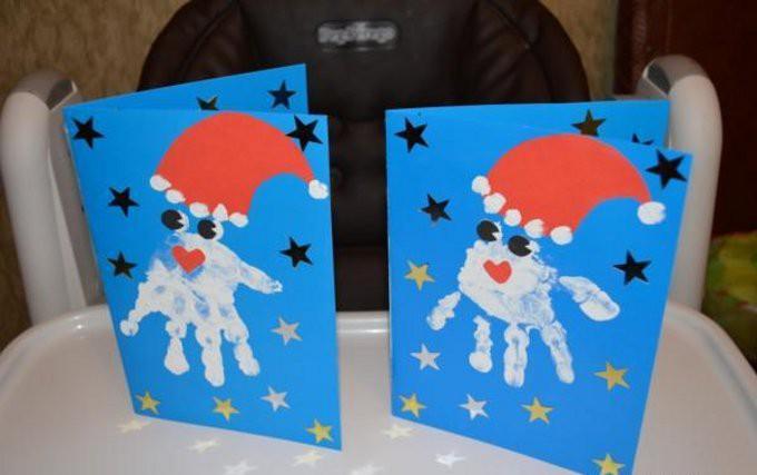 Как сделать открытку на день рождения деду морозу своими руками